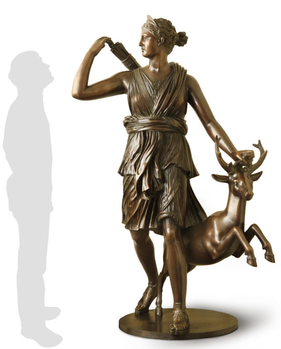 diana-cacciatrice-bronzo-silhouette