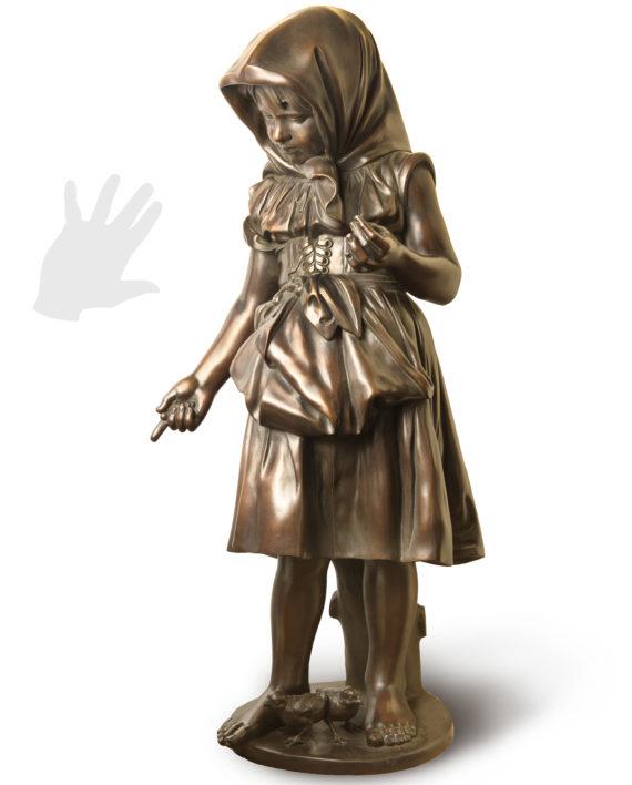 contadinella-fantacchiotti-bronzo-silhouette