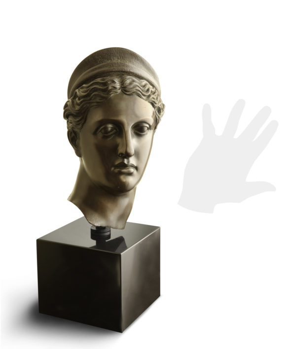 testa-diana-cacciatrice-bronzo-silhouette