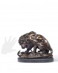 leone-serpente-bronzo-coreira-silhouette