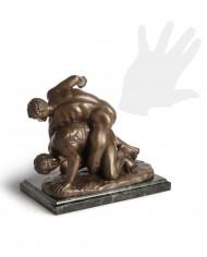 lottatori-bronzo-silhouette
