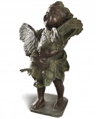 putto-gallo-cecioni-bronzo