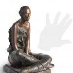 Resting Dancer original work of art by Sergio Benvenuti. Bronze sculpture for sale, Pietro Bazzanti Art Gallery, Florence, Italy