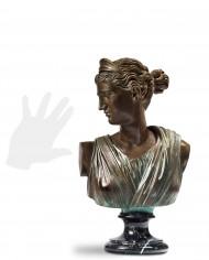 busto-diana-cacciatrice-bronzo-silhouette
