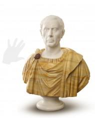 busto-giulio-cesare-marmo-bicolore-silhouette