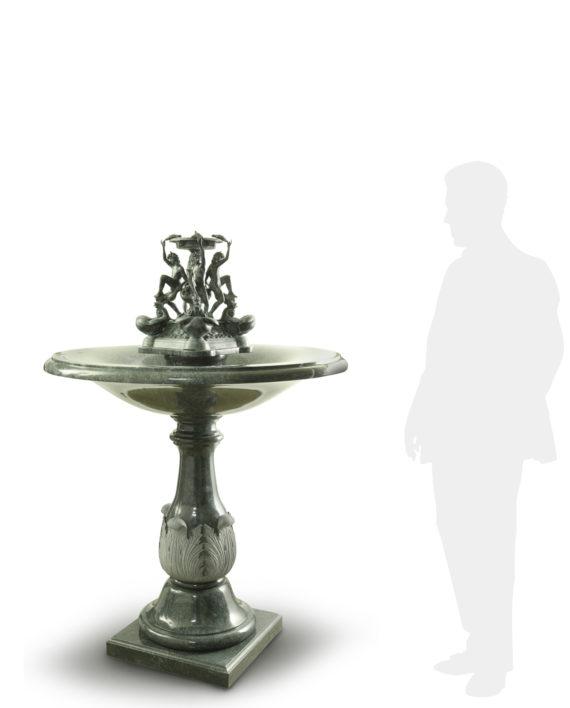 fontana-verde-tartarughe-silhouette