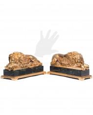 leoni-canova-bronzo-dorato-silhouette