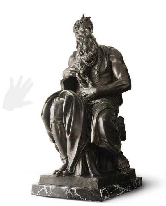 mose-michelangelo-bronzo-piccolo-silhouette