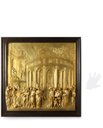 Panel of the Gates of Paradise by Ghiberti. Bronze sculpture for sale, Pietro Bazzanti Art Gallery, Florence, Italy