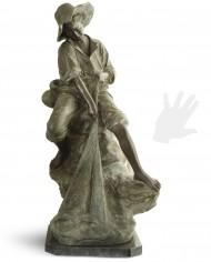 pescatore-rete-bronzo-silhouette
