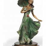 Liberty - Art Deco dancer. Bronze sculpture for sale, Pietro Bazzanti Art Gallery, Florence, Italy