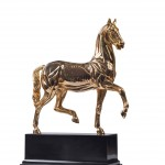 Gilded Anatomic Horse. Bronze sculpture for sale, Pietro Bazzanti Art Gallery, Florence, Italy