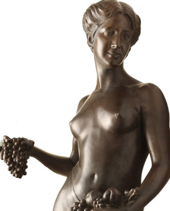 Pomona original work of art by Donatello Gabbrielli. Bronze sculpture for sale, Pietro Bazzanti Art Gallery, Florence, Italy