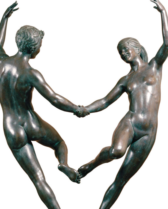 Adolescence, original work of art by Piero Bertelli. Bronze sculpture for sale, Pietro Bazzanti Art Gallery, Florence, Italy