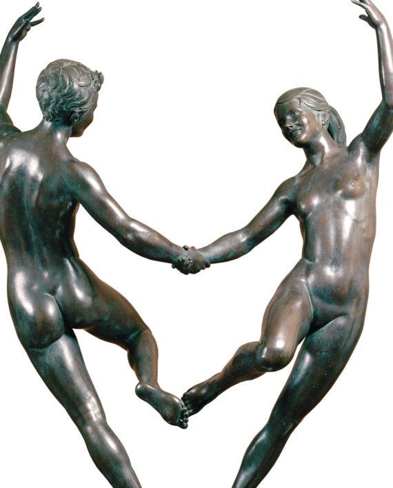 Adolescence, original work of art by Piero Bertelli. Bronze sculpture for sale, Pietro Bazzanti Art Gallery, Florence, Italy
