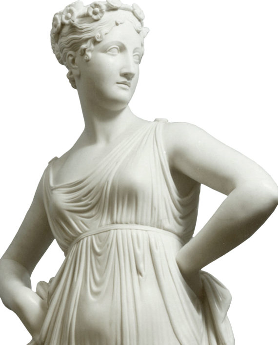 Dancer by Canova. Marble sculpture for sale, Pietro Bazzanti Art Gallery, Florence, Italy