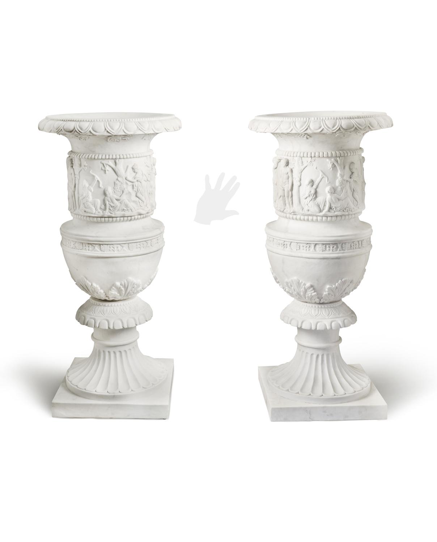 Vasi decorati galleria d 39 arte pietro bazzanti figlio for Vasi marmo