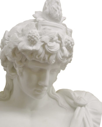Bust of Antinous. Marble sculpture for sale, Pietro Bazzanti Art Gallery, Florence, Italy