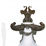 Sea Monsters fountain by Tacca. Marble sculpture for sale, Pietro Bazzanti Art Gallery, Florence, Italy