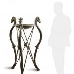 Pompeian tripod. Bronze sculpture for sale, Pietro Bazzanti Art Gallery, Florence, Italy