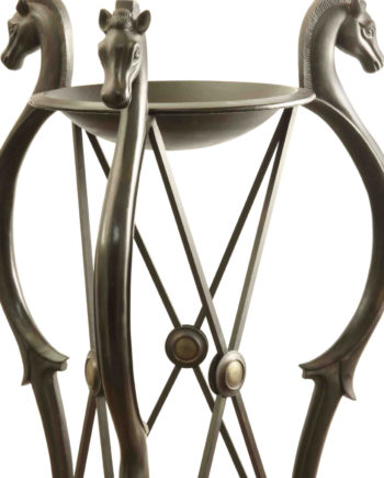 Pompeian tripod. Bronze sculpture for sale, Pietro Bazzanti Art Gallery, Florence, Italy