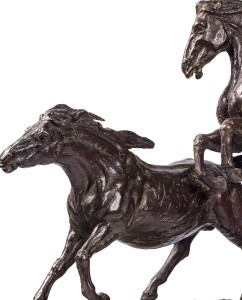 Horses original work of art by Eleonora villani. Bronze sculpture for sale, Pietro Bazzanti Art Gallery, Florence, Italy