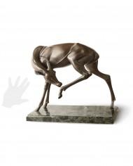 gazzella-gratta-bronzo-tofanari-silhouette