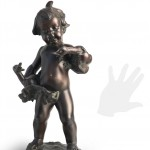 Boy with ducks, original work of art by donatello gabbrielli. Bronze sculpture for sale, Pietro Bazzanti Art Gallery, Florence, Italy