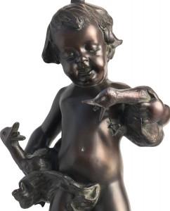Boy with ducks, original work of art by donatello gabbrielli. Bronze sculpture for sale, Pietro Bazzanti Art Gallery, Florence, Italy