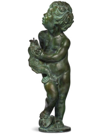 Putto for fountain top. Bronze sculpture for sale, Pietro Bazzanti Art Gallery, Florence, Italy