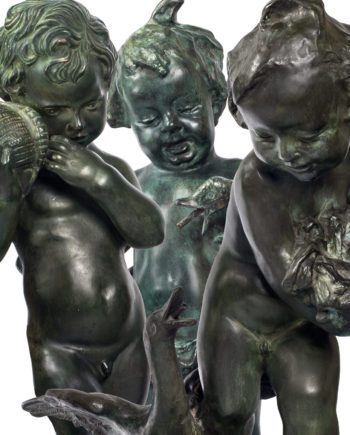 Puttos for fountain top. Bronze sculptures for sale, Pietro Bazzanti Art Gallery, Florence, Italy