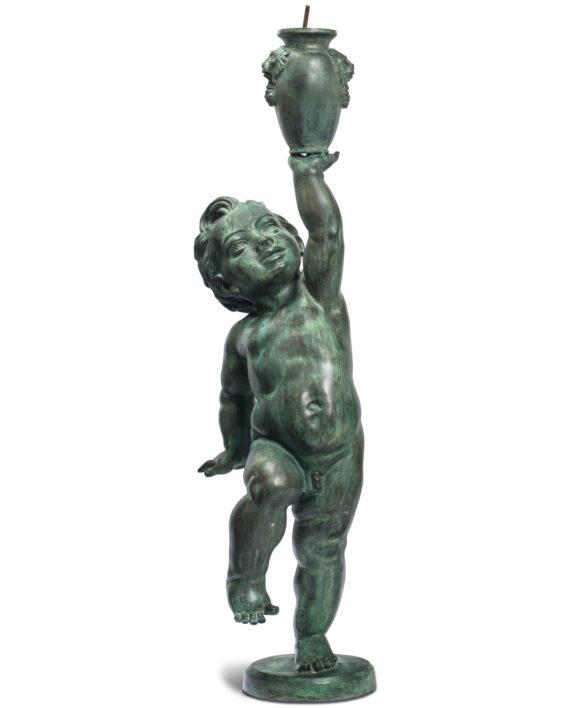 putto-top-fontana-bronzo-vaso