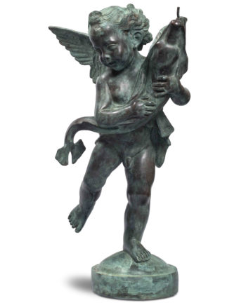 Putto by Verrocchio. Bronze sculpture for sale, Pietro Bazzanti Art Gallery, Florence, Italy