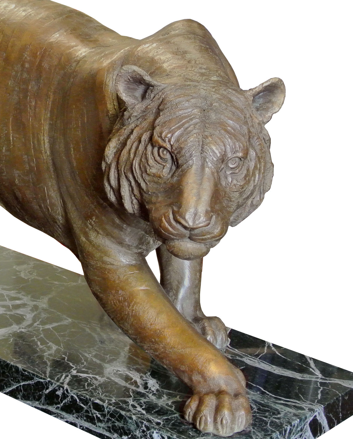 Tiger original work of art by Eleonora villani. Bronze sculpture for sale, Pietro Bazzanti Art Gallery, Florence, Italy
