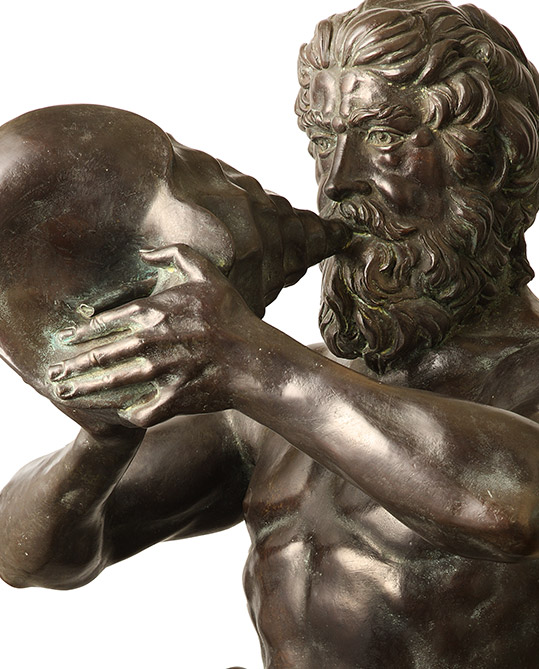Triton, original work of art by Sergio Benvenuti. Bronze sculpture for sale, Pietro Bazzanti Art Gallery, Florence, Italy