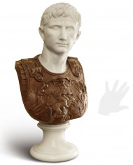 busto-cesare-augusto-marmo-silhouette