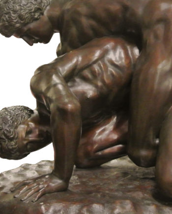 Wrestlers, Uffizi collection. Bronze sculpture for sale, Pietro Bazzanti Art Gallery, Florence, Italy