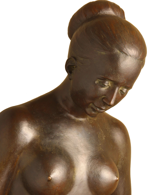 Maternity, original work of art by Piero Bertelli. Bronze sculpture for sale, Pietro Bazzanti Art Gallery, Florence, Italy