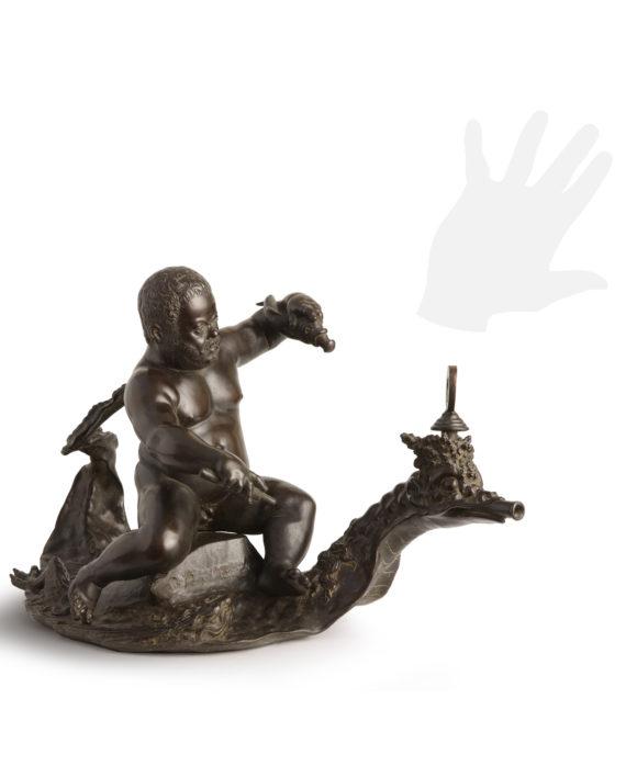 morgante-drago-bronzo-silhouette