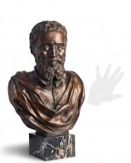 busto-michelangelo-bronzo-silhouette