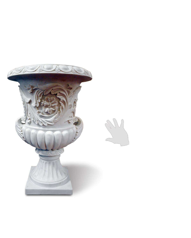 Vasi marmo decorati silhouette galleria d 39 arte pietro for Vasi marmo
