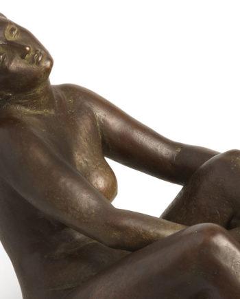 scultura in bronzo, dopo il bagno di Aroldo Bellini, fusione a cera persa eseguita dalla Fonderia Artistica Ferdinando Marinelli, in vendita presso la Galleria Bazzanti di Firenze