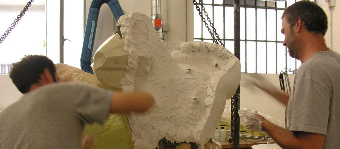 chimera-etrusca-bronzo-replica-galleria-bazzanti-fonderia-marinelli-formatura