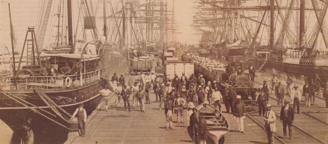 galleria bazzanti studio di scultura esposizione Melbourne - il porto di Melbourne nel 1878