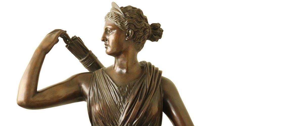 galleria-bazzanti-firenze-romani-diana-cacciatrice-bronzo
