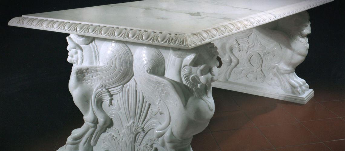 galleria-bazzanti-firenze-romani-tavolo-trapezofori-marmo-carrara