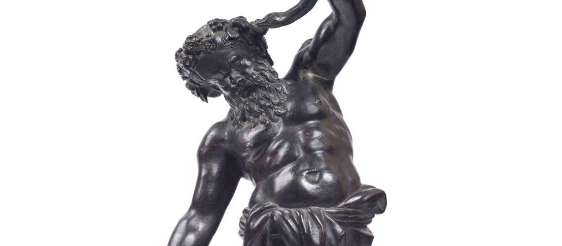 galleria-bazzanti-firenze-romani-sileno-bronzo
