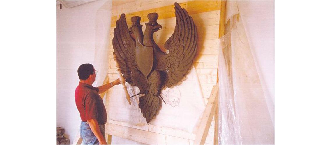 galleria bazzanti fonderia marinelli firenze restauro cremlino modello scultura aquila