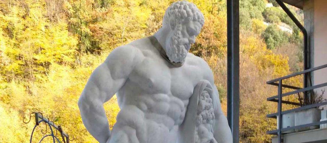 galleria bazzanti firenze replica scultura ercole farnese marmo carrara