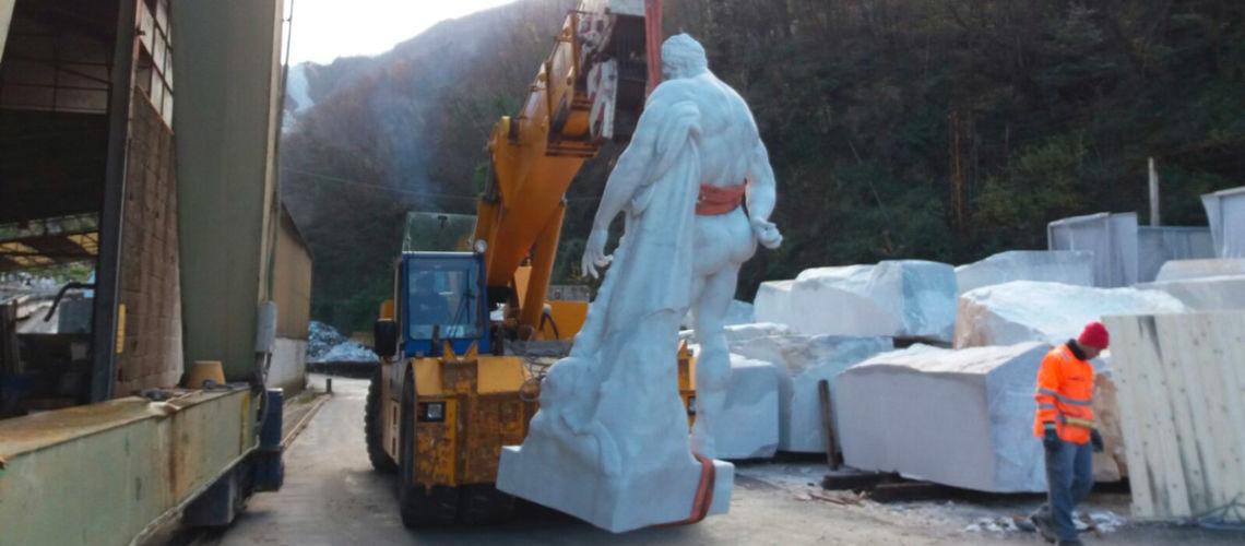 galleria bazzanti firenze replica scultura ercole farnese marmo carrara imballo